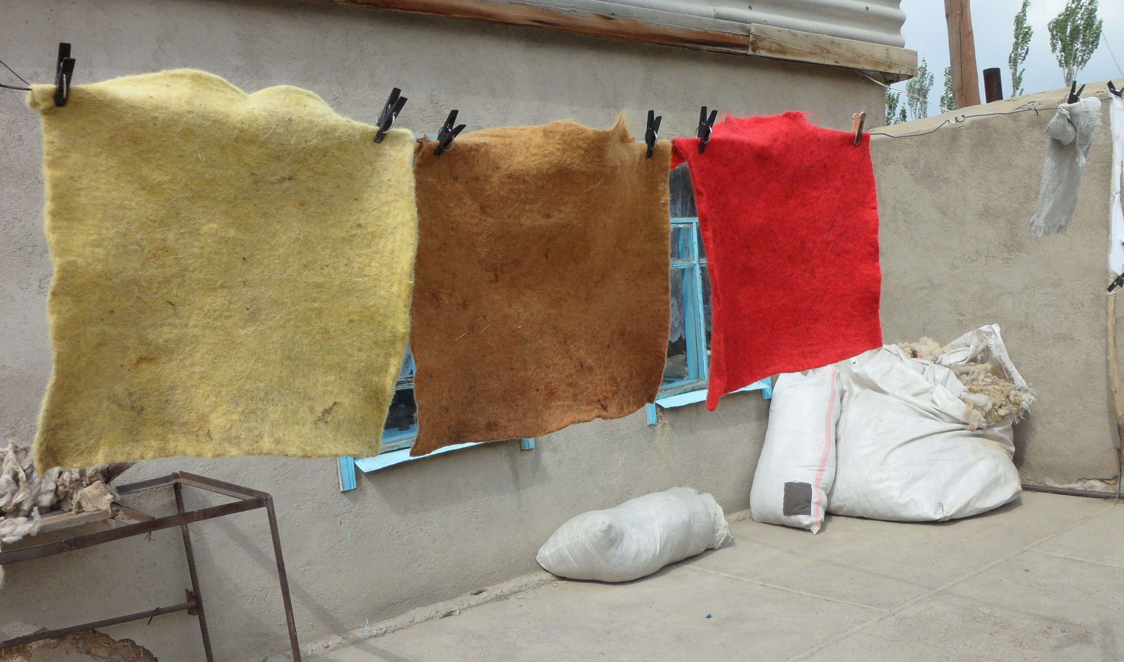 Hand Felted Wool Rugs Made By Women In