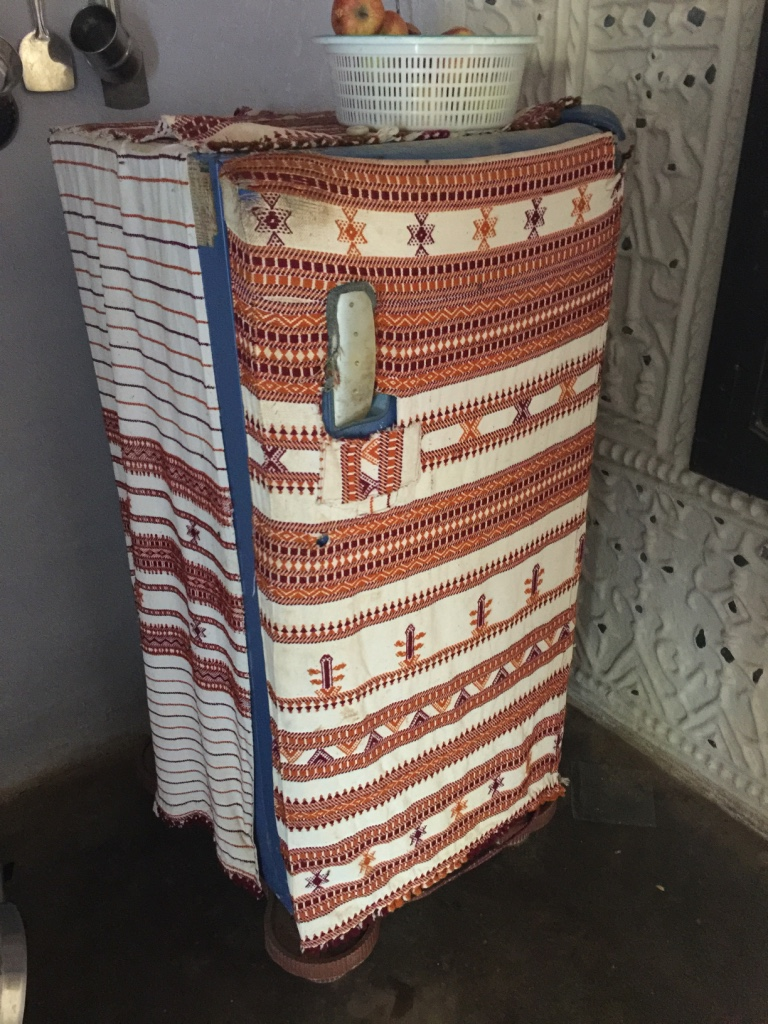 We knew we loved Shyamji when we saw that even his refrigerator was covered in a handmade textile